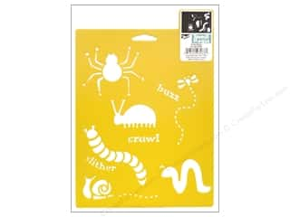 craft & hobbies: Delta Stencil Mania 7 x 10 in. Cutie Bugs