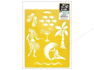 craft & hobbies: Delta Stencil Mania 7 x 10 in. Tropical Vacation