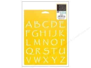craft & hobbies: Delta Stencil Mania 7 x 10 in. Alphabet Papyrus