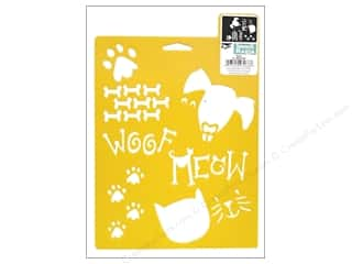 craft & hobbies: Delta Stencil Mania 7 x 10 in. Pets