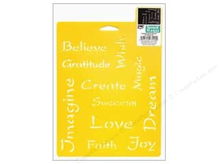 craft & hobbies: Delta Stencil Mania 7 x 10 in. Inspirational Words