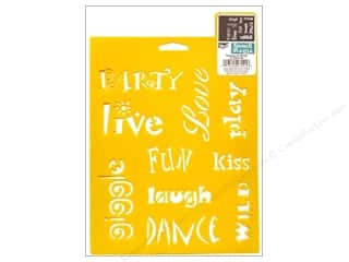craft & hobbies: Delta Stencil Mania 7 x 10 in. Whimsical Words