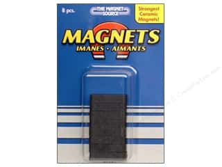 Magnets: The Magnet Source Ceramic Block Magnets 3/16 x 1/4 x 7/8 in. 8 pc.