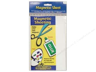"""Magnets: The Magnet Source Magnet Sheet 5""""x 8"""" White"""