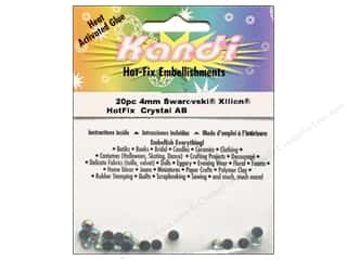 beading & jewelry making supplies: Kandi Swarovski Xilion Hotfix Crystals 4 mm 20 pc. Crystal AB