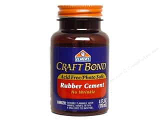 Elmer's Rubber Cement 4 oz. Craft Bond No-Wrinkle