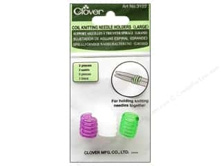Clover Knitting needle: Clover Coil Knitting Needle Holder - Large 3 pc.