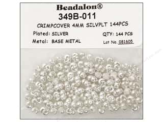 Beading & Jewelry Making Supplies: Beadalon Crimp Covers 4 mm Silver 144 pc.