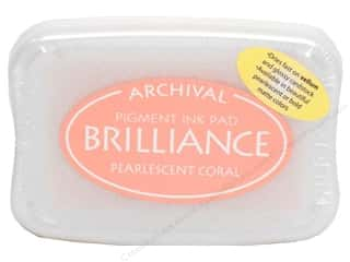 Tsukineko Brilliance Large Craft Stamp Pad Pearl Coral