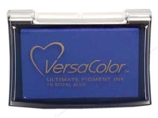 stamp cleaner: Tsukineko VersaColor Large Pigment Ink Stamp Pad Royal Blue