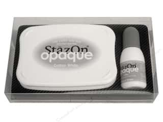scrapbooking & paper crafts: Tsukineko StazOn Large Solvent Ink Stamp Pad Opaque Cotton White