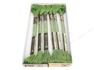 yarn & needlework: DMC Light Effects Embroidery Floss 8.7 yd. #E703 Jewel Effects Light Green Emerald (6 skeins)