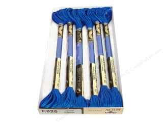 DMC Light Effects Embroidery Floss 8.7 yd. #E825 Jewel Effects Blue Sapphire (6 skeins)