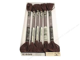 DMC Light Effects Embroidery Floss 8.7 yd. #E898 Antique Effects Dark Oak (6 skeins)