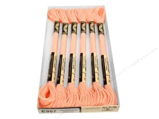 DMC Light Effects Embroidery Floss 8.7 yd. #E967 Pearlescent Effects Soft Peach (6 skeins)