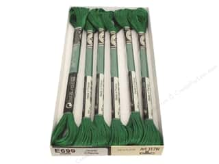 yarn & needlework: DMC Light Effects Embroidery Floss 8.7 yd. #E699 Jewel Effects Green Emerald (6 skeins)