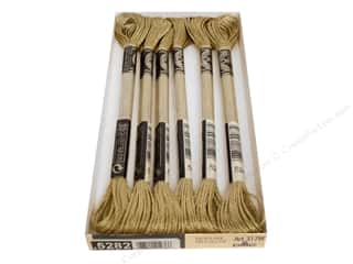 DMC Light Effects Embroidery Floss 8.7 yd. #E3821 Precious Metal Effects Light Gold (6 skeins)