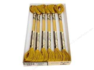 DMC Light Effects Embroidery Floss 8.7 yd. #E3852 Precious Metal Effects Dark Gold (6 skeins)