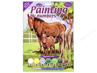 craft & hobbies: Royal Paint By Number Kit Mare & Foal