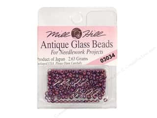 seed beads: 11/0 Glass Seed Beads by Mill Hill  #3034 Antique Royal Amethyst