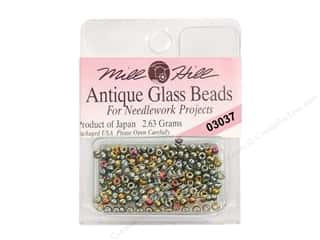 seed beads: 11/0 Glass Seed Beads by Mill Hill  #3037 Antique Abalone