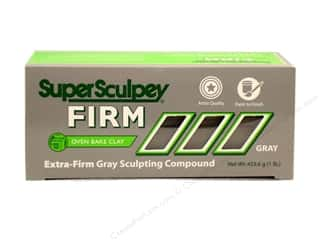 Polymer Clay: Super Sculpey Firm Clay 1 lb. Grey
