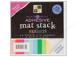 Cardstock: Die Cuts With A View Adhesive Backed Mat Stack Brights 3 7/8 x 3 7/8 in.