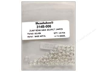 craft & hobbies: Beadalon Jump Rings 6 mm Silver 144 pc.