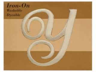 monogram iron ons Iron On Letters & Numbers: Novtex Monogram Iron-On Large Ivory Y