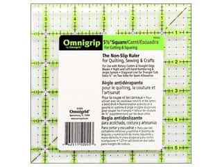 quilt rectangular square ruler: Omnigrid Omnigrip Non-slip Ruler 5 1/2 x 5 1/2 in.