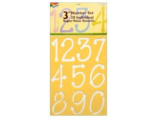 craft & hobbies: Delta Number Stencil Mania 3 in. Super Value Just Numbers