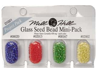 bead jacket: Millhill Glass Bead Mini-Pack 20, 2013, 167, 2002-Royal Blue, Red Red, Christmas Green, Yellow Creme