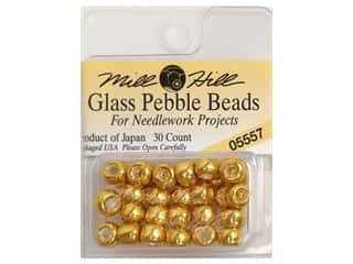 bead jacket: Mill Hill Pkg Pebble Beads 30 pc Old Gold