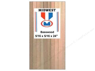 craft & hobbies: Midwest Basswood Strip 5/16 x 5/16 x 24 in. (18 pieces)