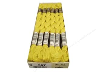 DMC Pearl Cotton Skein Size 3 #307 Lemon (12 skeins)