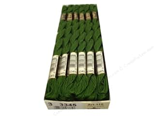DMC Pearl Cotton Skein Size 3 #3345 Hunter Green