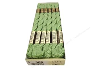 DMC Pearl Cotton Skein Size 3 #368 Light Pistachio Green (12 skeins)