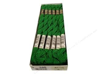 yarn & needlework: DMC Pearl Cotton Skein Size 3 #700 Bright Green (12 skeins)