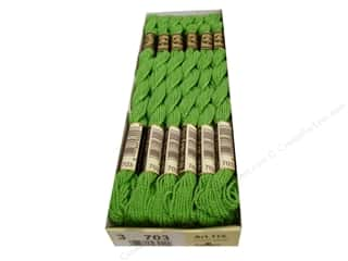 yarn & needlework: DMC Pearl Cotton Skein Size 3 #703 Chartreuse (12 skeins)