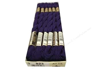 DMC Pearl Cotton Skein Size 3 #823 Dark Navy Blue (12 skeins)