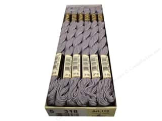 yarn & needlework: DMC Pearl Cotton Skein Size 5 #318 Granite Grey (12 skeins)