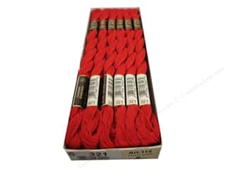 yarn & needlework: DMC Pearl Cotton Skein Size 5 #321 Red (12 skeins)