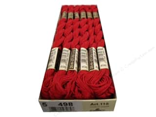 yarn & needlework: DMC Pearl Cotton Skein Size 5 #498 Dark Red (12 skeins)