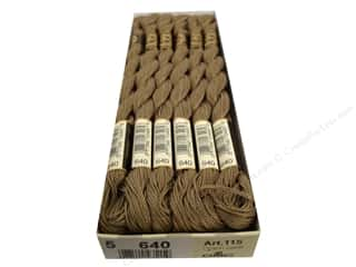 yarn & needlework: DMC Pearl Cotton Skein Size 5 #640 Very Dark Beige Gray (12 skeins)