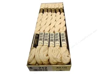 DMC Pearl Cotton Skein Size 5 #712 Cream (12 skeins)