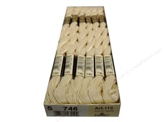 yarn & needlework: DMC Pearl Cotton Skein Size 5 #746 Off White (12 skeins)