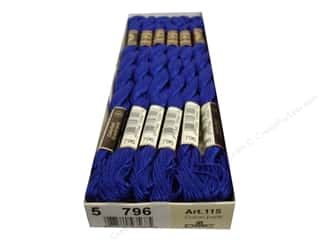 yarn & needlework: DMC Pearl Cotton Skein Size 5 #796 Dark Royal Blue (12 skeins)
