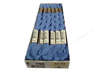 DMC Pearl Cotton Skein Size 5 #799 Medium Delft Blue (12 skeins)