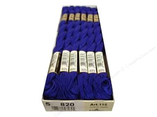 DMC Pearl Cotton Skein Size 5 #820 Very Dark Royal Blue (12 skeins)