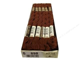 DMC Pearl Cotton Skein Size 5 #898 Very Dark Coffee Brown (12 skeins)
